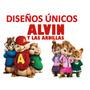 Kit Imprimible Alvin Y Las Ardillas, Nuevo Diseño Invitacion