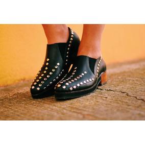 Zapatos Dama Cuero,tachas. Artesanales Envios Gratis