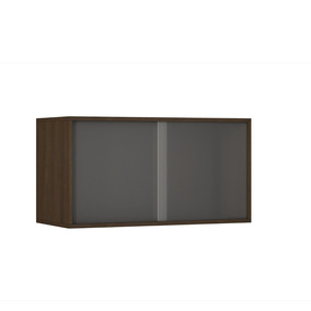 Cubo Nicho Decorativo Brv 1 Porta De Vidro Bcb 10 Tabaco
