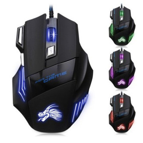 X3 Mouse Gamer Multicolor Led 5500 Dpi Ajustable 7 Botones