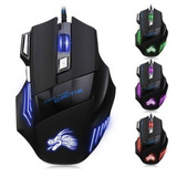 X3 Mouse Gamer Multicolor Led 5500 Dpi Ajustable 7 Botones
