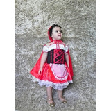 Vestido Fantasia Chapeuzinho Vermelho Infatil