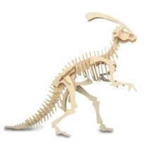 Dinosaurio Parasaurolophus 3d De Madera
