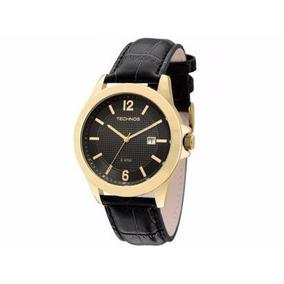 Relógio Technos Masculino De Couro Classic Steel 2115kno/2p