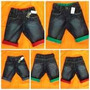 Bermuda Roupa Infantil Jeans Masculina Barra Dobrada
