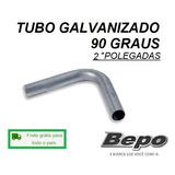 Tubo Galvanizado Curva 90 Graus 2 Poleg Escapamento Caminhão