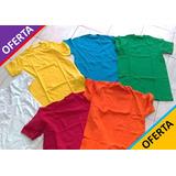 Franelas Unicolor Publicitaria Para Serigrafia 100%