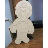 Figuras Personajes Para Pintar Infantiles Mario Bros Madera