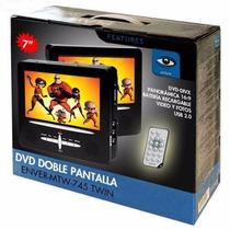 Dvd Pantalla 7 Para Cabecera De Auto Con Correa Ajustable