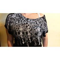Blusa Negra Strass Nueva S_m Fiesta Fashion Ny