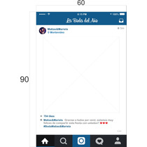 Mural Instagram En El Dia 90x60cm Bodas 15 Años