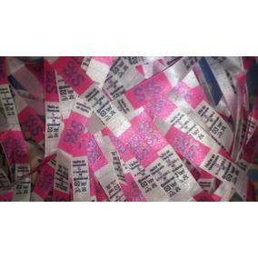 Etiquetas De Ropa Raso Estampadas Vestidos Blusones Pantys