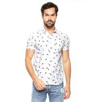 American Level - Camisa Blanca Manga Corta - Blanco