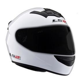 Casco Integral Ls2 Ff352 Single Mono Blanco **visor Negro**