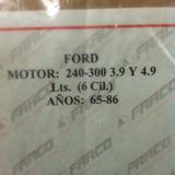 Empacadura De Carter Ford 240 300 6cilindros Año 65/86