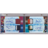 2012 Finest 4x Autografo Robert Griffin Weeden Blackmon 1/1