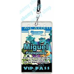 Monster University 12 Gafete Vip Invitacion Fiesta