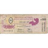 Billete 5000 Australes, Bono Cancelacion De Deuda De Salta