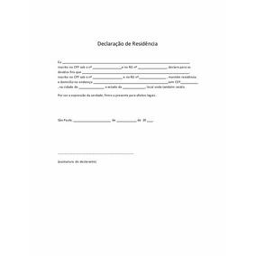 Modelo Editável De Declaração De Residência