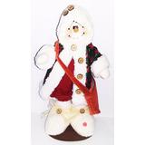 Peluche Country Nieve Saco Navidad Regalo Amor Adorno Decora