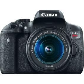 Camara Reflex Canon Eos T6i + Lente 18-55 Wi-fi 1080p 750d *