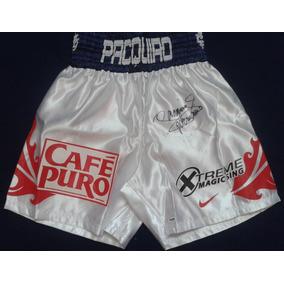 Short Autografiado Manny Pacman Pacquiao Box Boxeo Vs Diaz