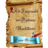 Kit Imprimible Diplomas 6to Grado Hasta Bachillerato