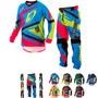 Kit Conjunto Infantil Kids Motocross Trilha Insane 4 Protork