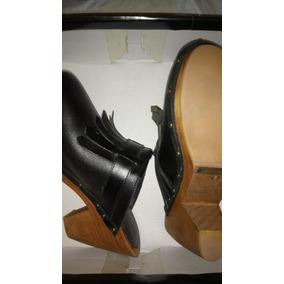 Suecos Zapatos Cuero Vacuno Paula Cahen D