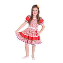 Fantasia Caipira Infantil Com Vestido Bolsa Festa Junina
