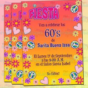 Invitaciones Groovy - Fiesta 60