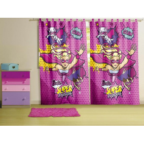 Cortina Para Varão Barbie Super Princesa 3,00 X 2,20 Lepper