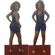 Macaquinho Feminino Jeans Lindo Tem Plus Size Moda Lojas Bh