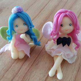 Souvenirs Hadas Porcelana Fría Bautismo Cumpleaños X10.
