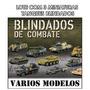 Lote Kit 3 Miniatura Tanque Guerra Blindado Combate Militar