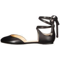 Zapato Mujer Ivanka Trump Elise Negro Planos Gamuza Cuero N