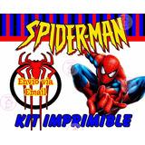 Spiderman Kit Imprimible Hombre Araña Candy Bar 2017