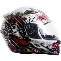 Capacete Esportivo Moto Ebf Eox Aztec Branco 60 Casco Abs