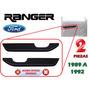 89-91 Ford Ranger Coderas Asideras Puertas Color Negro 2 Pzs