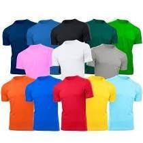 4 Camisetas Lisa Masculina 100% Algodão Vários Tamanhos
