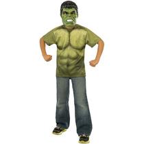 Disfraz De Hulk The Avengers. Niño T 4-6 Años. Envio Gratis