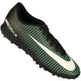 Chuteira Society Nike Mercurial Vortex Iii Tf Nf Tênis Preto