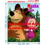 Painel Decorativo Festa Infantil Masha E O Urso (adesivo)
