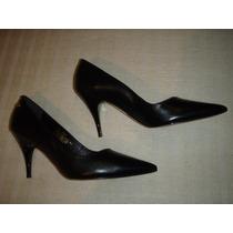 Zapatos Gacel De Cuero Reina N º 36. Negros.