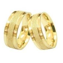 Alianças Feitas De Moedas Antigas Cor De Ouro Par 10mm