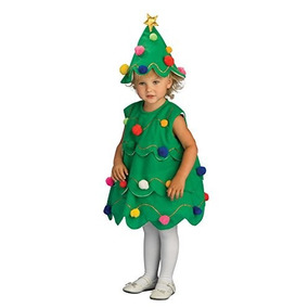 Disfraz De Arbol De Navidad Para Niños