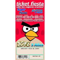 Kit Imprimible Invitacion Fiesta Infantil Tipo Ticketmaster