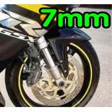 Friso Adesivo Curvo 7mm Refletivo Roda Fita Moto Carro Honda