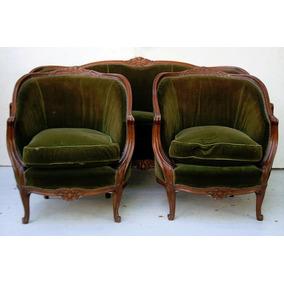 Juego de sillones luis xv juegos de sillones antiguos en Juego sillones usados