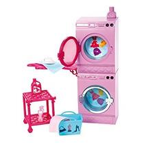 Juguete Barbie Glam Lavandería De Muebles